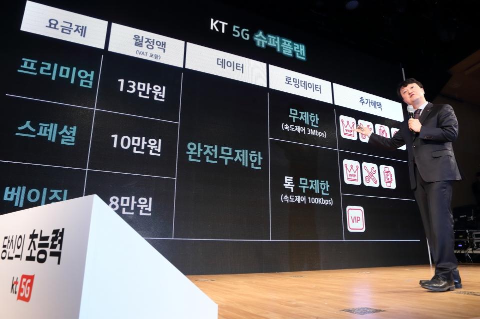 850c8529606 5G사업본부장 박현진 상무가 업계 최초의 5G 데이터완전무제한 요금제 '슈퍼